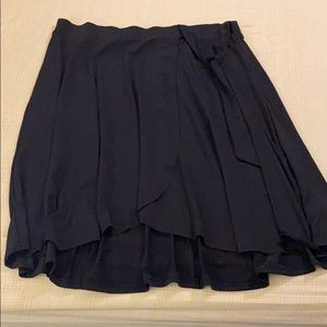 TORRID Black Wrap Midi Skirt